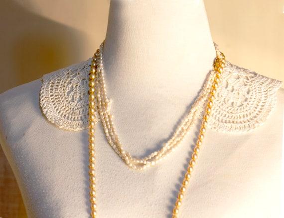 White Collar Necklace, Detachable Peter Pan Colla… - image 3