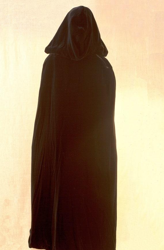 Laura Ashley, Long Black Cape, Cape Coat Velvet, … - image 5