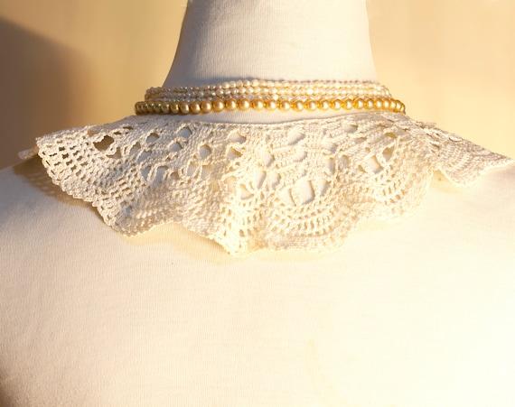 White Collar Necklace, Detachable Peter Pan Colla… - image 5