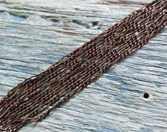 Vintaj Natural Brass {1.2mm Fine Figaro Soldered Chain} 24 inches - CH80 *LIMITED STOCK*