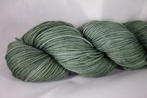 Hand Dyed Light Fingering Superwash Merino Yarn, Greenwood Colorway, 3-Ply Yarn