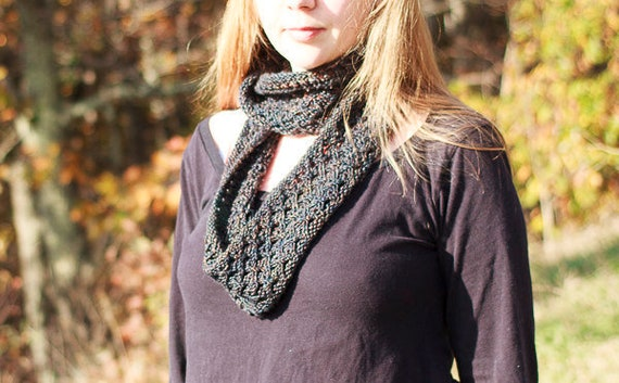 Knitting Pattern, Appalachia Lace Cowl / One Skein Cowl Knitting Pattern