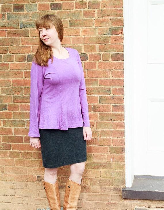 Princess Seam Top / Organic Cotton Jersey Top / Women's Feminine Organic Fashion