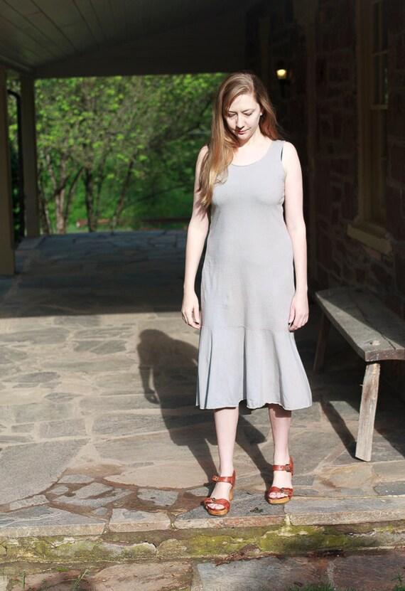 Flounce Sundress, Organic Cotton Jersey Summer Dress, Eco Friendly Ruffle Dress