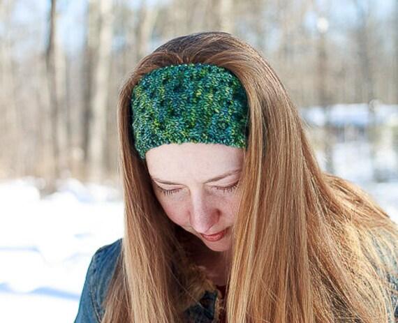 Honeycomb Headband / Knitting Pattern / Ear Warmer Knitting Pattern
