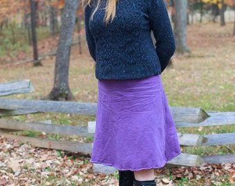 Fleece winter skirt