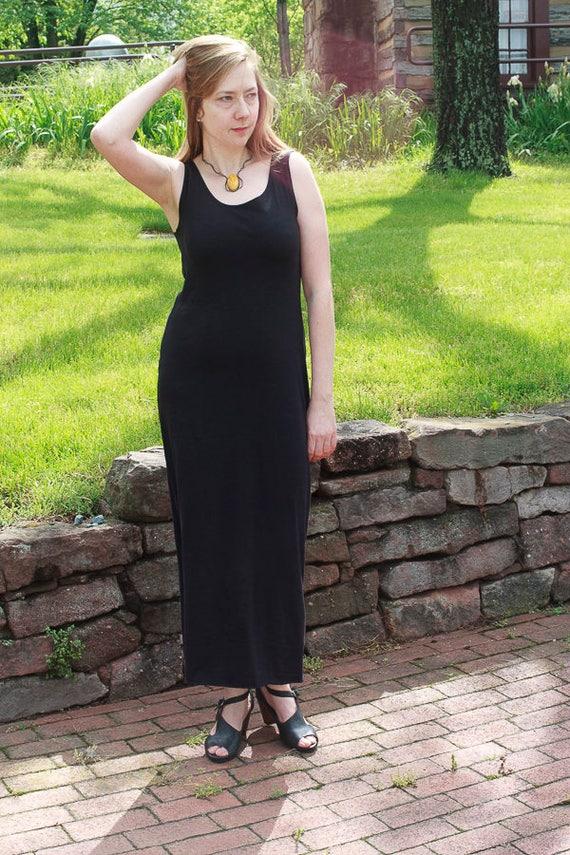 Goddess Dress, Maxi Tank Dress, American Grown Organic Cotton Jersey Dress