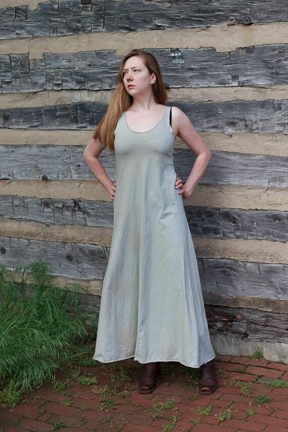 Alice Long Sundress, Organic Cotton Jersey Summer Dress, Four Panel Eco Friendly Dress