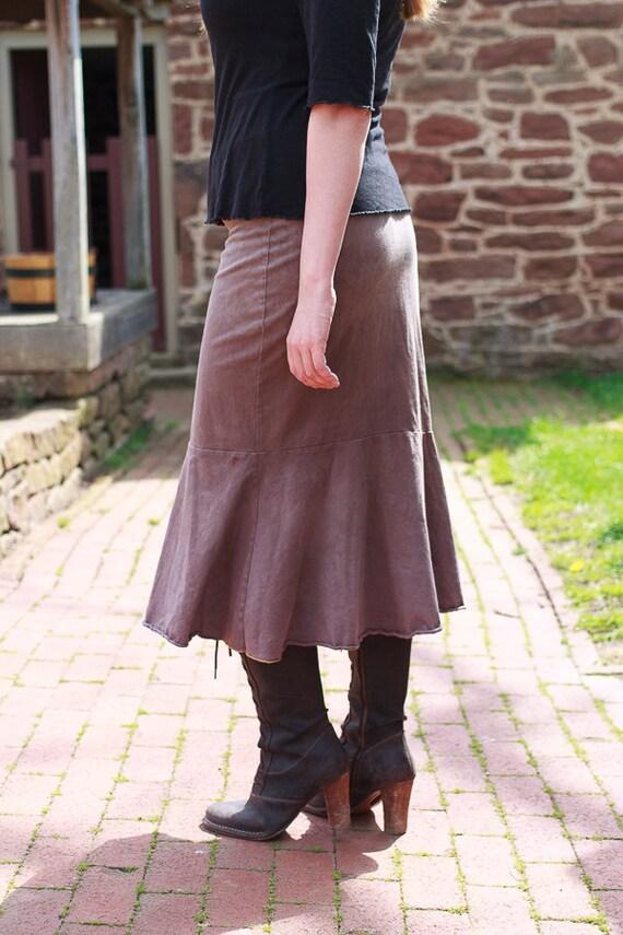Prarie Skirt, Organic Cotton Jersey Ruffle Skirt, Eco Friendly Handmade Skirt