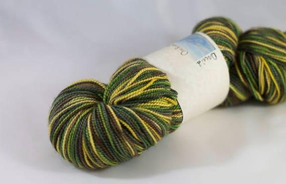 Self Striping Sock Yarn, Druid Colorway