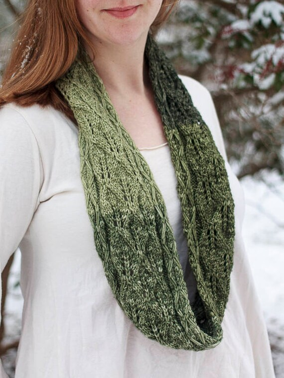Druid Cowl One Skein Knitting Pattern Lace Cowl Pattern Etsy