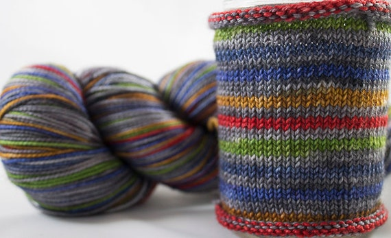 Hand Dyed Self Striping Sock Yarn / Libra Colorway / Zodiac Inspired Color / Superwash Merino and Nylon Fingering Yarn