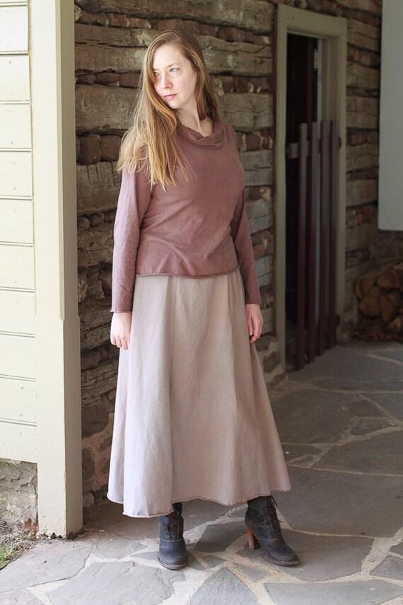 Uptown Shirt, Organic Cotton Jersey Top, Handmade Eco Friendly Clothing