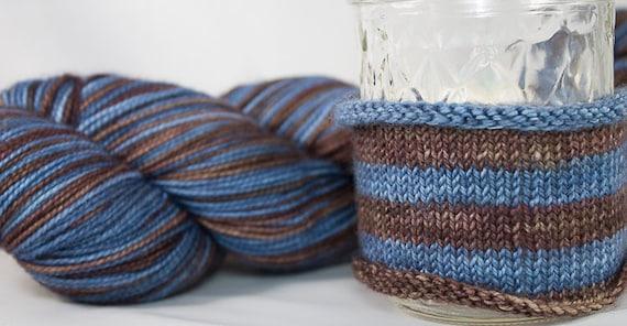 Self Striping Sock Yarn / Hand Dyed in Virgo Colorway / Zodiac Inspired Colorway / Superwash Merino and Nylon Fingering Yarn