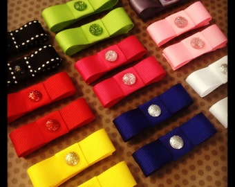 Set of 5...Assorted Colors Snap Clips...Wholesale Hairbows...Toddler Snap Clips...Girls Hairbows...Baby/Toddler Hairclips...SnapClips
