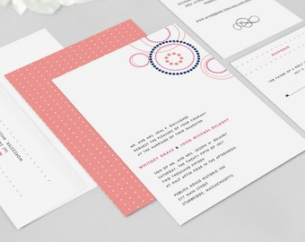 Wedding Invitation Modern - Cirque  - Wedding Invitation, Modern Wedding Invitation - Deposit to Get Started