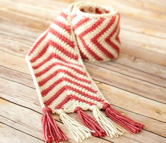 Crochet Pattern Chevron Ripple Scarf Pattern Perfect For Etsy