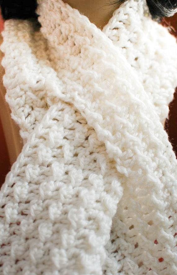 Crochet Pattern Keyhole Scarf with Spiral Flower Immediate