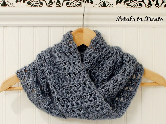 Crochet Pattern Mobius Infinity Cowl Scarf Includes Etsy