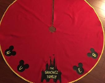 disney christmas tree skirt christmas skirt tree skirt felt christmas skirt