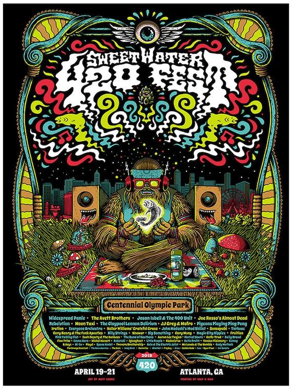 Sweetwater 420 Fest - Atlanta GA - gigposter - 2019
