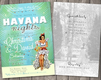 Havana Nights Party Invitation EVITE DIGITAL FILE 1957