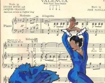 Royal Blue- by Parrish Monk-original art, modern artwork, Latina art, dance art, Zeta Phi Beta, black artist, Zeta art