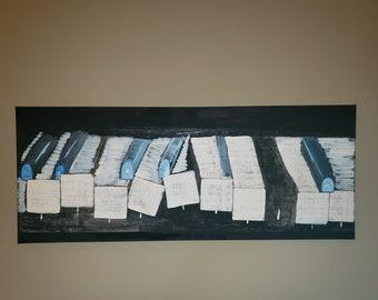 Broken Keys- Contemporary art, music art, Jazz art, modern abstract, piano painting, piano art, black art- original artwork by Parrish Monk