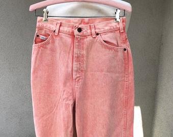 c9e7d42e08 Vintage orange acid wash jeans pants by Lee high waist Sz 10 medium