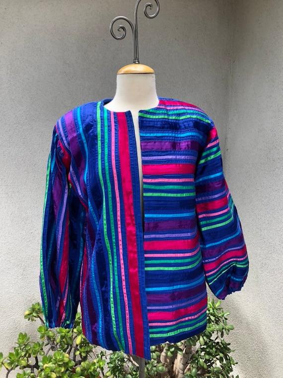 Vintage boho Mexican Tachi Castillo blue cotton pi