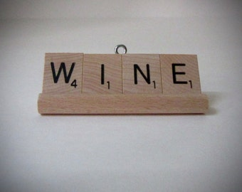 Wine Accessories-Scrabble Word Ornaments-Gift Set