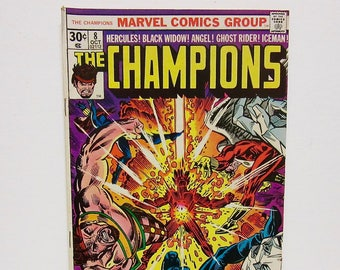 Comic Book, The Champions, Marvel Comics,Collectible,Vintage