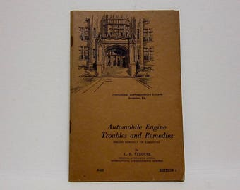 Shop Manual 1944 Automobile Engine Troubles and Remedies Edition 1