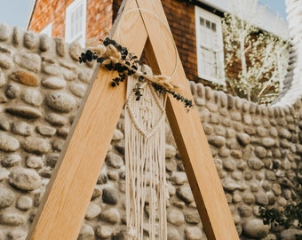 Macrame Hoop with Preserved Eucalyptus and Dried Bunny Grass- Wedding Arch Hoop Decor-Wedding/Party Decor- Boho-Mountain-Hippie-Modern