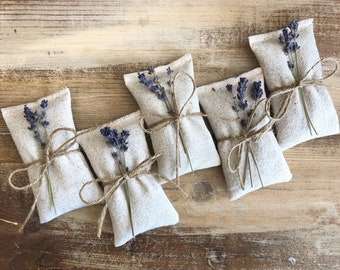 Golden Zonesgo 50 pcs Sachet Empty Bags Lavender Bags Unique Cotton Bags for Lavender Spice and Herbs