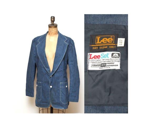 70s Womens Lee Denim Jacket XL - image 1
