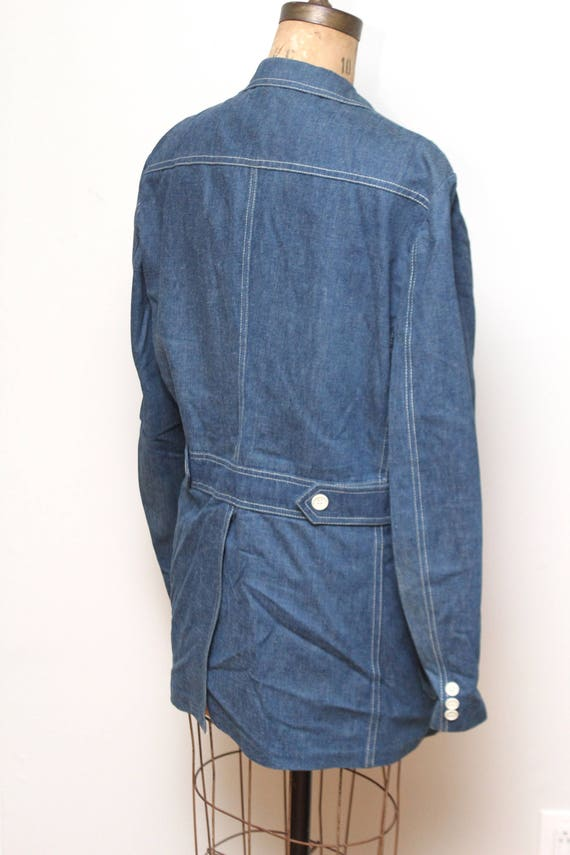 70s Womens Lee Denim Jacket XL - image 2