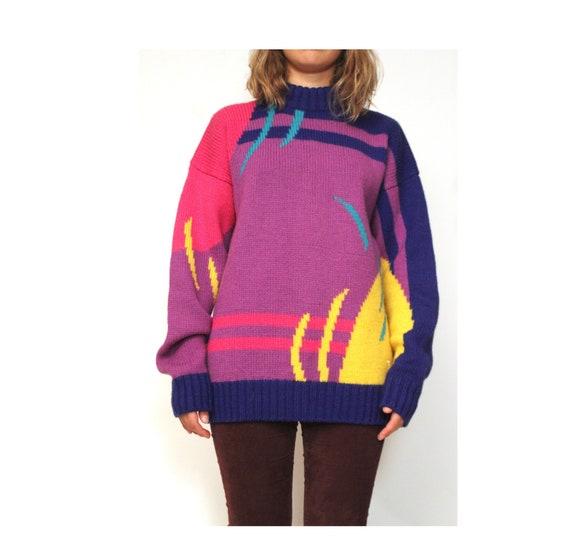 80s Pure Wool FILA Sweater