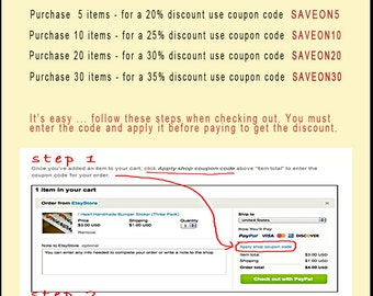 DISCOUNT COUPON CODE Information Bulletin - not for purchase