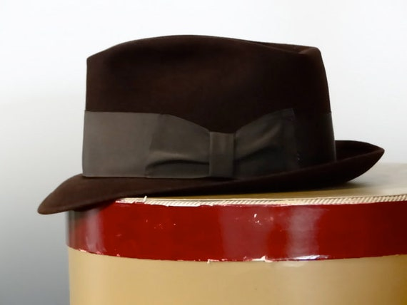 315b757f3d3 1950 s Vintage Cavanagh Hat Men s Dark Chocolate Brown