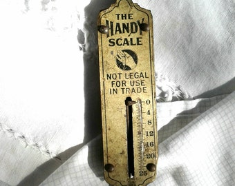 Vintage * The Handy Scale * Rustic Cabin * Mountain Lake House * Primitive Kitchen Decor * Fishing / Nifty Industrial Chic Decor