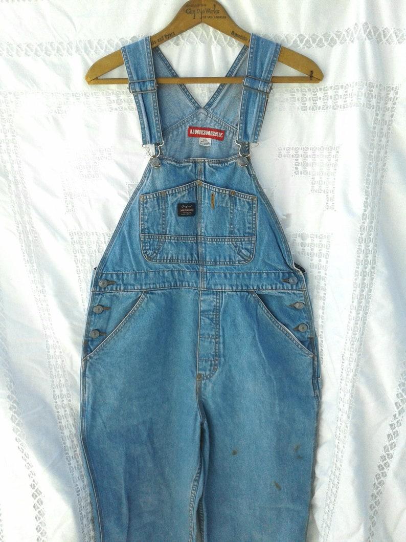 Jeans Street-wear Vintage Blue DENIM Deep Armholes Bib Overalls JUMPSUIT - Bohemian Chic