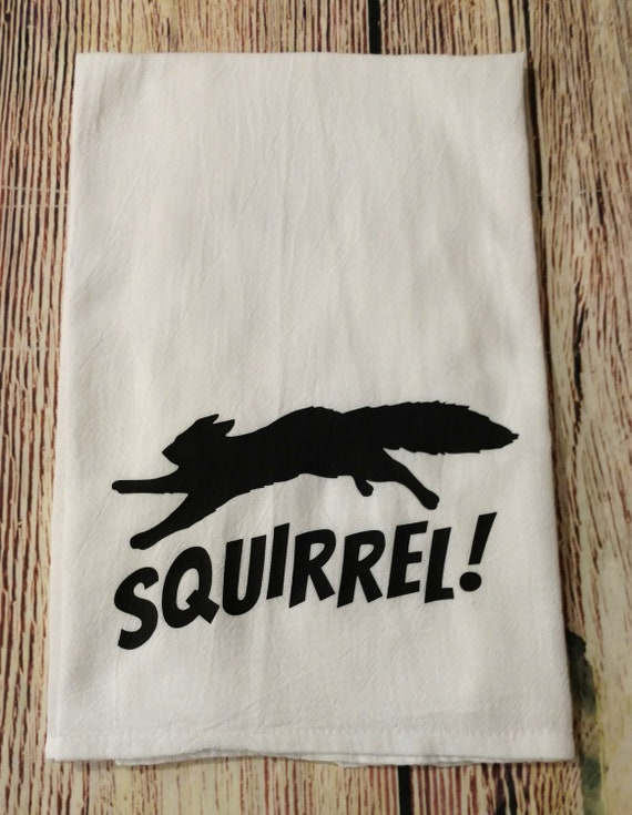 Christmas Vacation Squirrel.Squirrel Dish Towel National Lampoons Christmas Vacation Clark Griswold Cousin Eddie Funny Christmas Kitchen Towel Gift Exchange