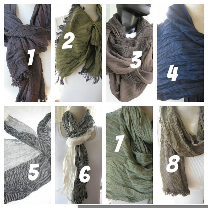 5c8c2e4b97a8 Longue écharpe pour homme couleur Bordeaux noir vert gris