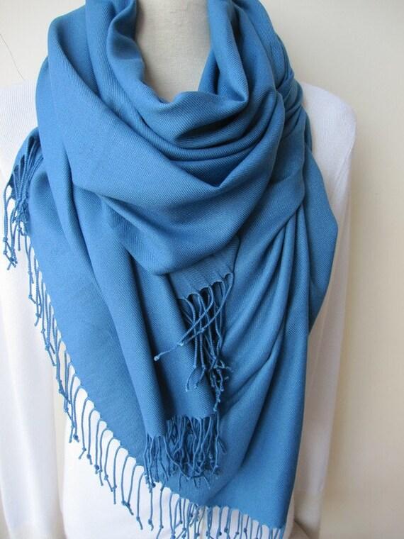 3fe726458bb1 Pashmina Châle wrap bleu foulard foulards et senroule châle   Etsy