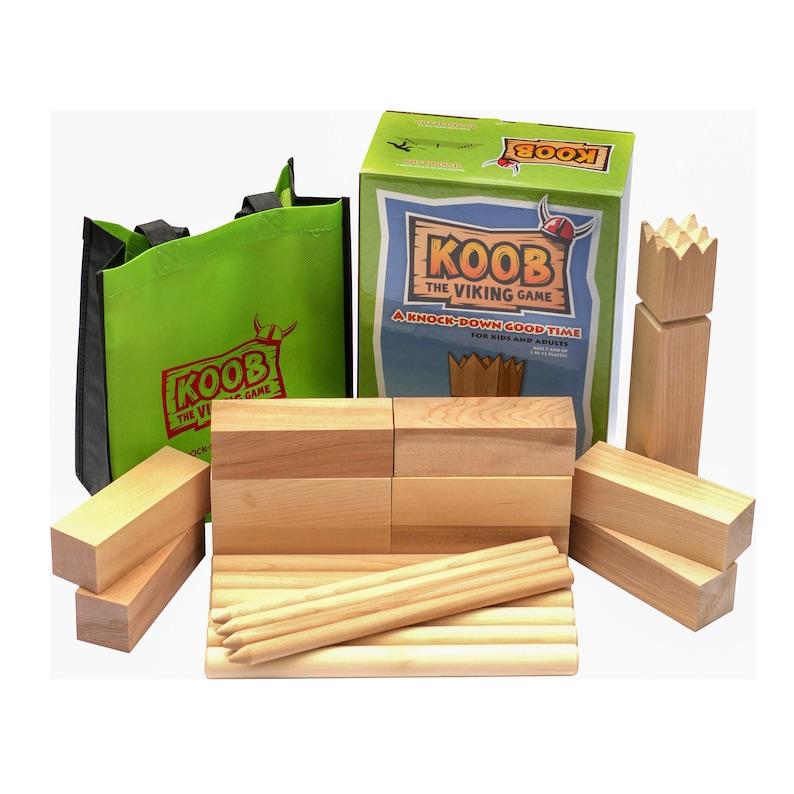 KOOB The Viking Game  Canadian Made Premium Hardwood Kubb image 0
