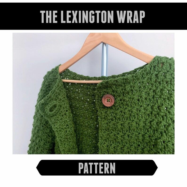 cozy sweater the Lexington Wrap PATTERN ONLY preppy jacket PDF classic coat crochet pattern