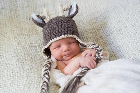 Neugeborenen häkeln Hirsch häkeln Mütze stricken Hut Tier Hut | Etsy