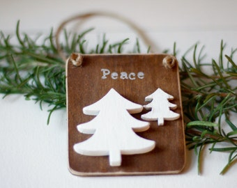 Woodland Christmas Ornaments • Woodland Tree • Farmhouse Christmas • Rustic Christmas  Ornaments • Fixer Upper Style