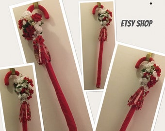 Gorgeous Ladies Walking Canes Handmade/ embellished with Ribbons, Lace, & Silk Flowers